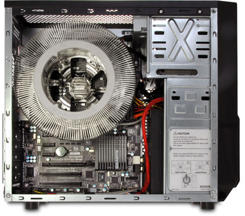 Photograph showing the internal PC layout (click to enlarge)