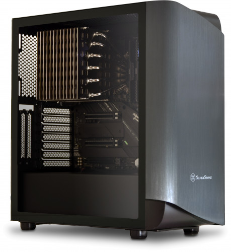The A1090a Fanless Z2, built inside the Silverstone SETA