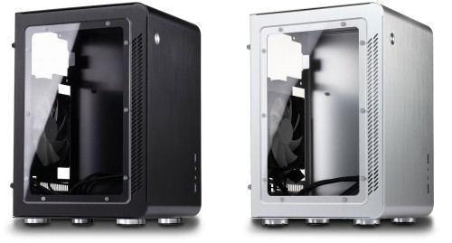 A windowed version of the silver and black cases is available