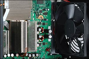 Image showing the 120mm cooling fan. Air duct not shown.