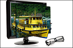 High Quality Stereoscopic 3D Display The 3D filter on the LCD panel and 3D glasses are designed to compensate perfectly and create a stereoscopic optical image with reduced eye strain and clear high quality stereoscopic display