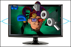 Wide Viewing Angle Vertical and horizontal viewing angles are created wider than other polarised monitors, minimising cross talk and eye strain